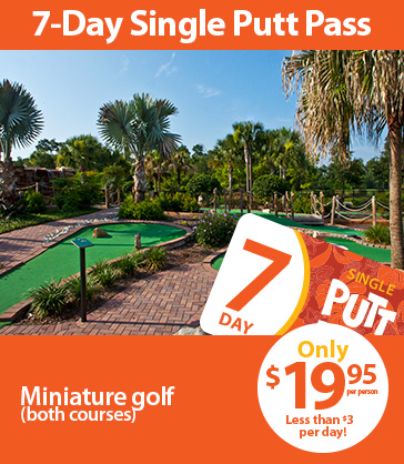 3-Day Single Putt Pass, only $19.95 per person